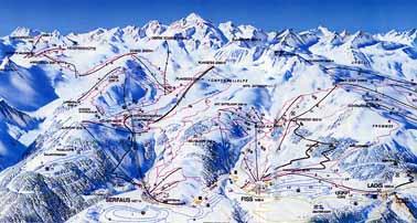 Лучшие европейские горнолыжные курорты для детей.  Серфаус, Австрия (схема курорта) .